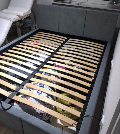 Łóżko sypialniane 160x200 materac stelaż