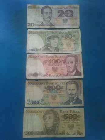 5-Banknotów z PRL-U(Super okazja)