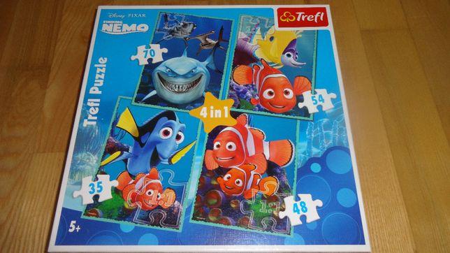 Puzzle 4 w 1 Gdzie jest Nemo/ Trefl