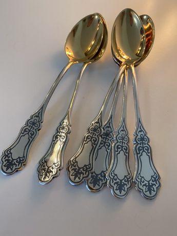 Чайные серебряные ложки. Столовое серебро.