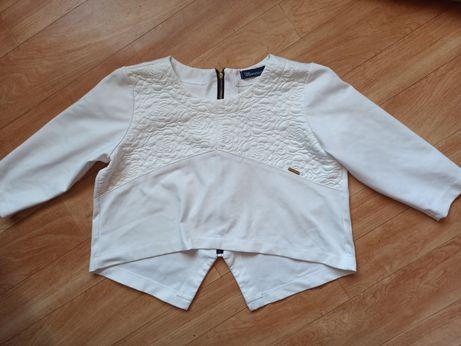 Oryginalna biała bluza, dłuższy tył r. 36, 38