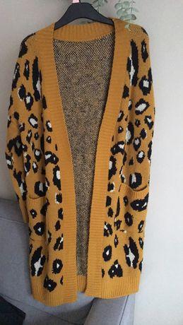 Długi sweter w panterke uni