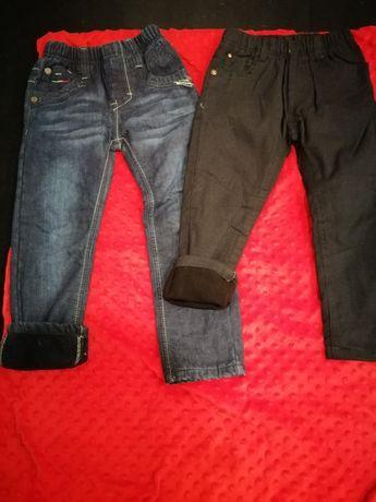 Spodnie jeansowe dla chłopca na polarze 110/116