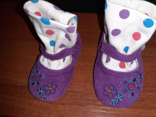Туфельки-носочки для девочки