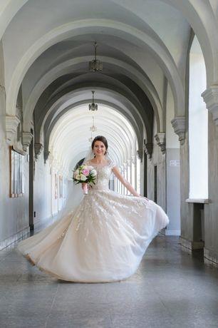 Свадебное платье после химчистки, р. XS-S