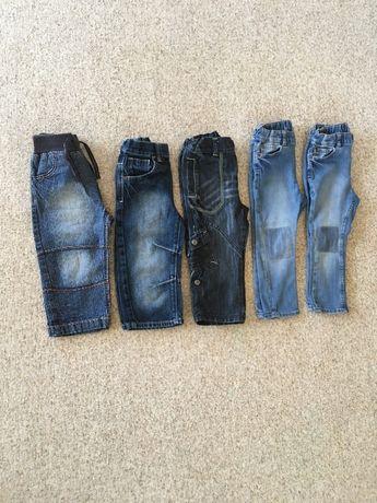 Ubranie spodnie chłopięce jeansy Cherokee Next H&M 92