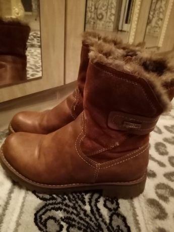 Кожа!Ботинки,Сапожки Зима 35-36 рр.,