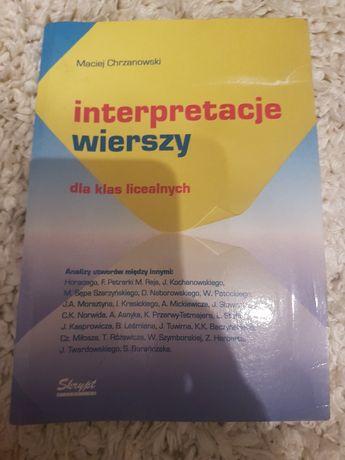 Interpretacje wierszy Maciej Chrzanowski