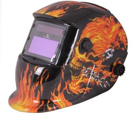 """Máscara de soldadura de escurecimento automático estampada """"Fogo"""""""