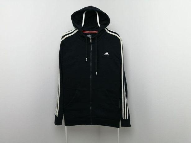 Мужская черная толстовка с капюшоном Adidas Размер - XL