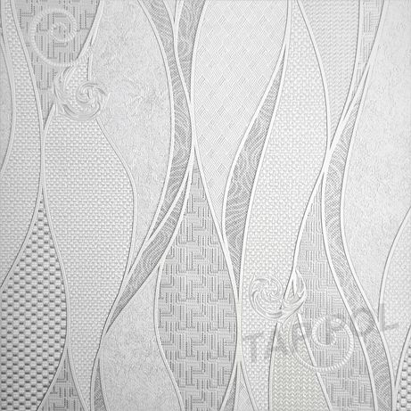 Tapeta na ścianę nowoczesna pasy fale z brokatem