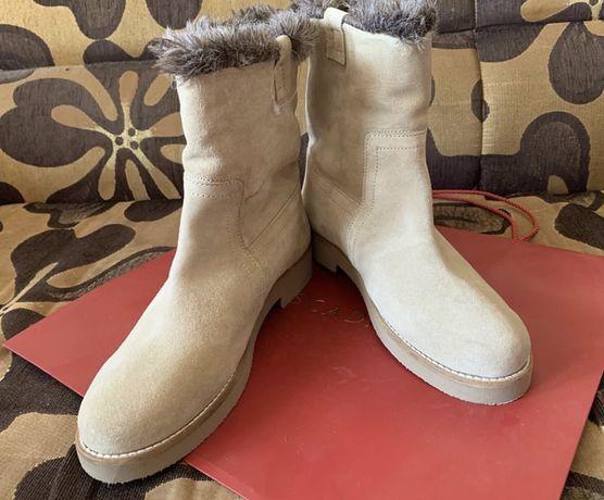 Сапоги женские зимние кожаные замшевые lumberjack ботинки угги ugg