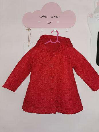Płaszczyk kurtka zimowa ocieplana polarkiem rozmiar 98 dla dziewczynki