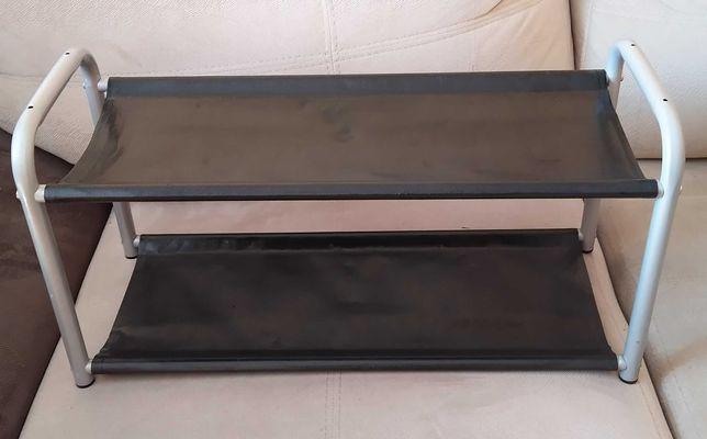 Czarno srebrna półka, regał na buty 45x16x13 cm