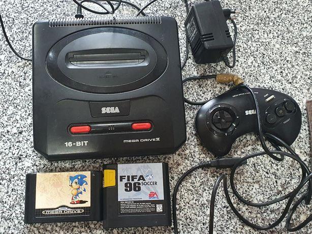 Mega drive 2 com 2 jogos
