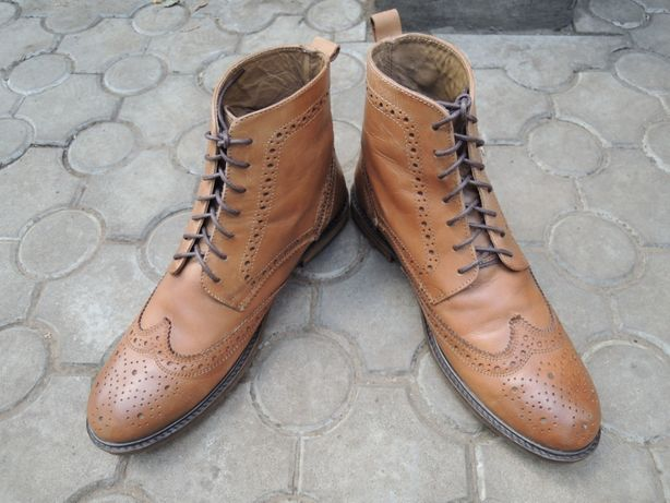 фирменные кожаные ботинки Jasper Conran р.43-44 (28-28,5 см)