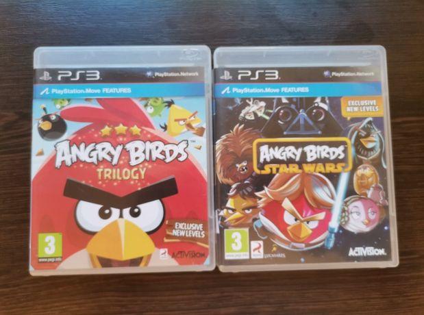 Zestaw 2 części Angry Birds ps3 playstation konsola wysyłka gry