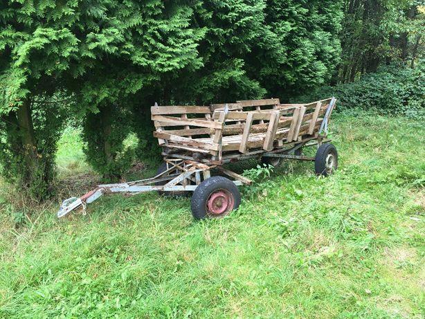 Wóz konny do ciągnika traktora drabiniasty rolniczy przyczepa furmanka