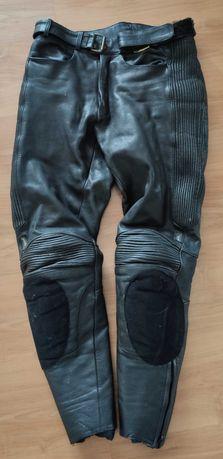 spodnie motocyklowe skórzane skóra POLO rozm 48