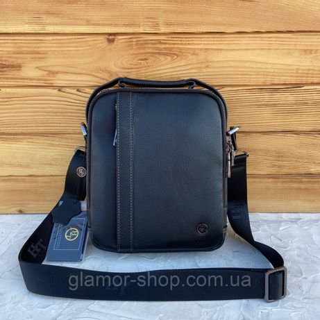 Мужская кожаная сумка мессенджер через плечо H.T. Leather чоловіча