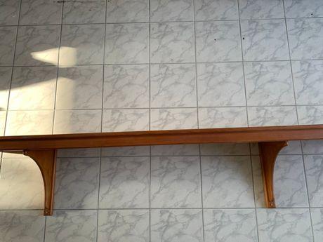 Estante madeira maciça 39x245x50cm (L x C x A)