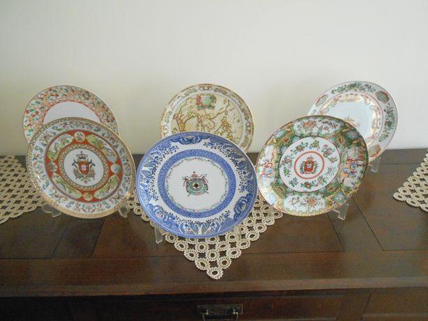 """6 Magníficos pratos de coleção """"Portugal e o Oriente"""". Edição limitada"""