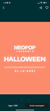 2 Bilhetes neopop Halloween