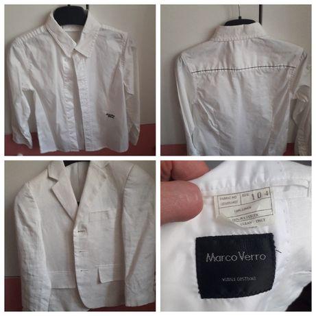 Рубашка белая Bimbus Италия и пиджак лен 4-5 лет круче hm, Zara i next
