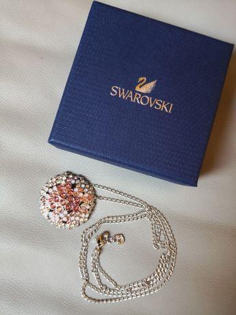 Swarovski naszyjnik biało-różowe kamienie