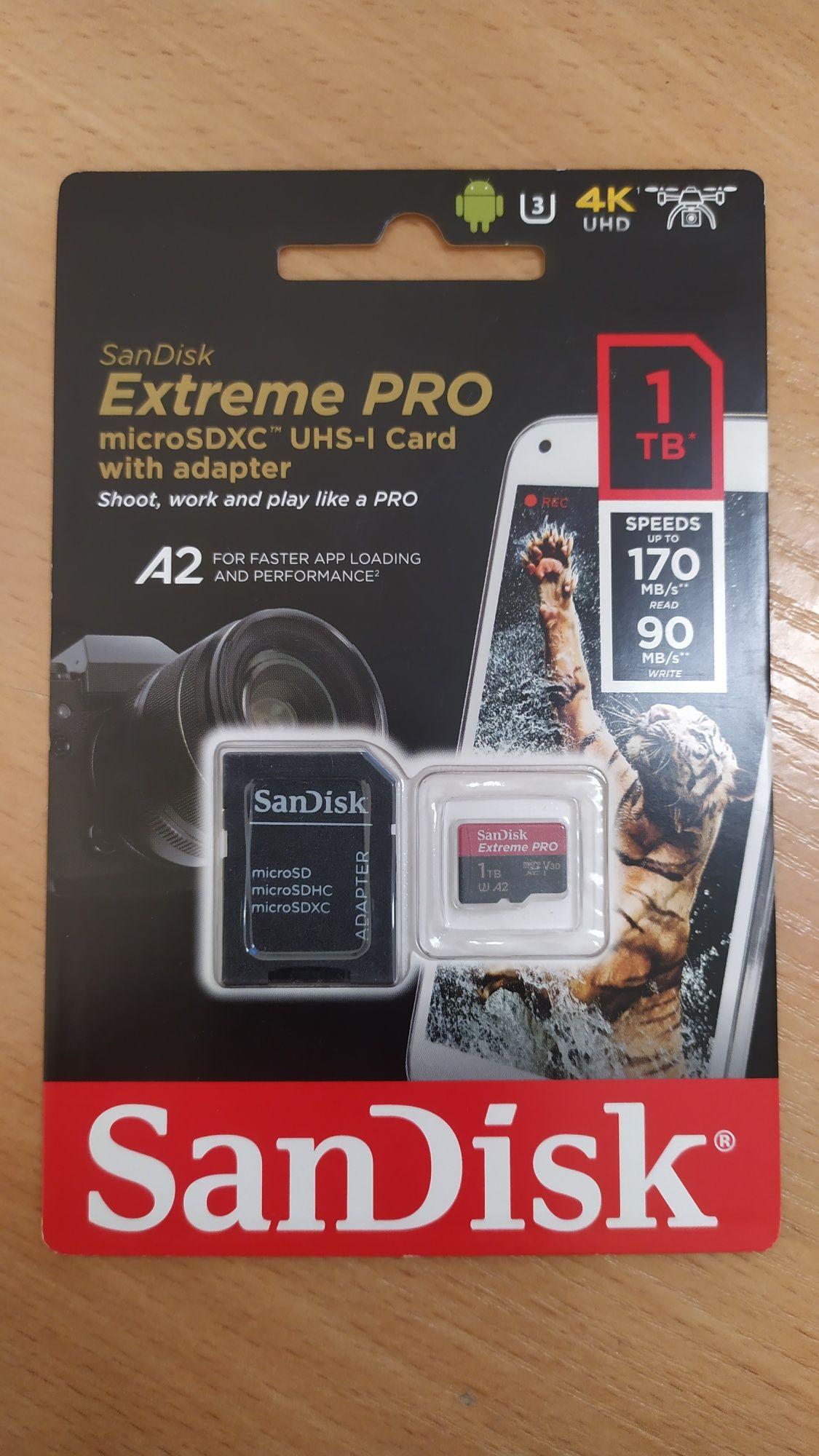 SanDisk Extreme Pro microSDXC UHS-I Card A2 4K UHD 1Tb