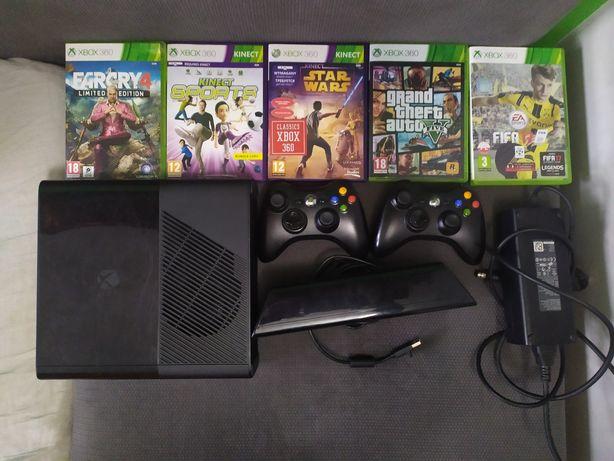 Xbox 360 2GB+Kinect+5 gier