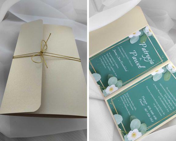 Zaproszenie handmade na ślub | wesele | urodziny zielone