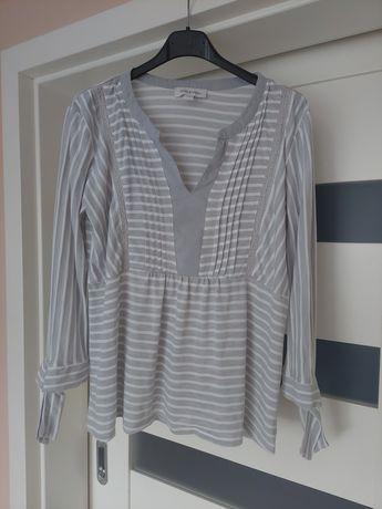 Bluzka w paski szaro-białe S