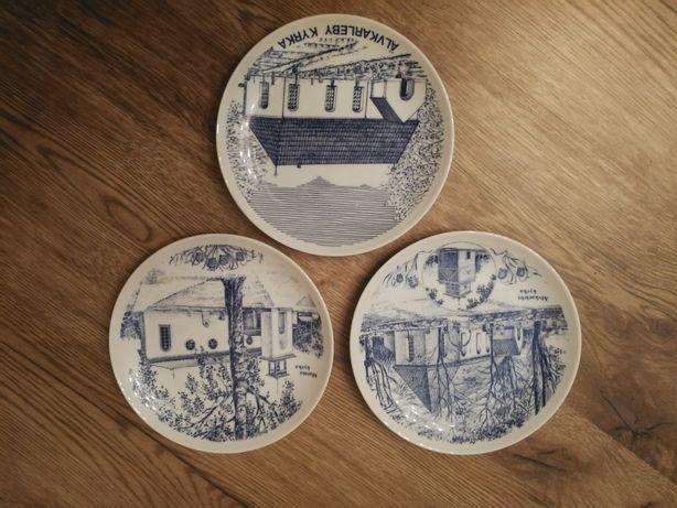Szwedzkie talerze kolekcjonerskie z porcelany