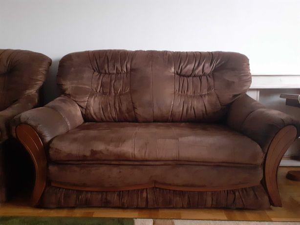 Kanapa + fotel (zestaw wypoczynkowy) kanapa z funkcją spania