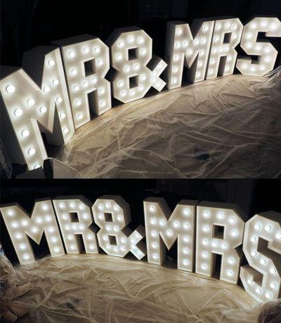 Napis Led XXL Love Miłość Kocham Ty&Ja Amore Mąż&Żona Marry Me Mr&Mrs