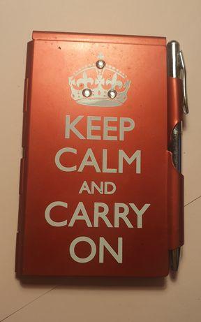 Bloco + Caneta Keep Calm