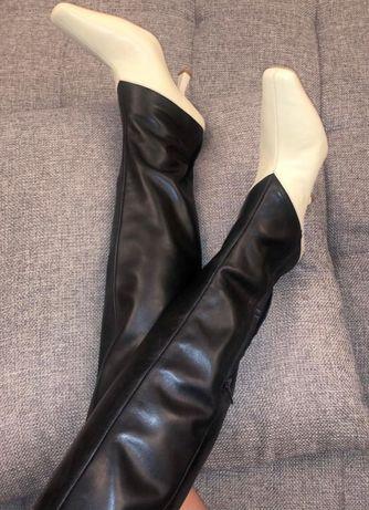 Шикарные кожаные сапоги H&m studio р 38 Zara Cos Mango