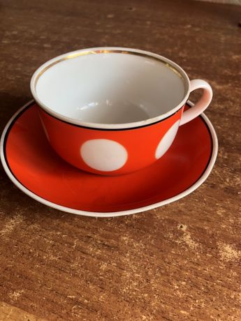 Советская посуда чашка блюдце ссср