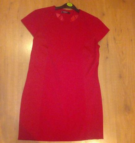 Vestido vermelho curto Mango