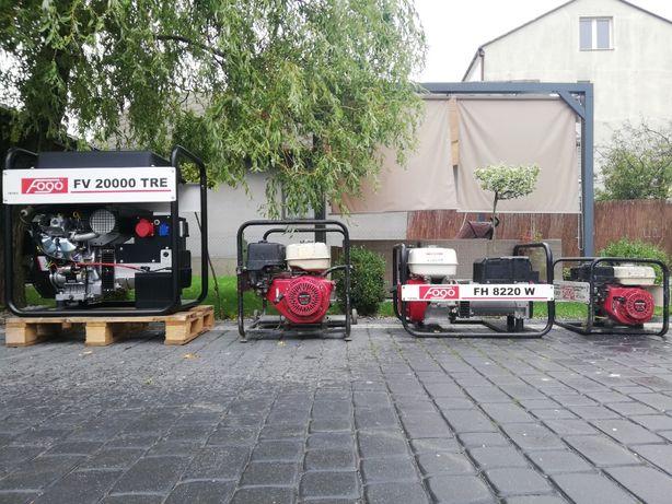 Agregat Prądotwórczy Spawalniczy 2-15 KW Pompa Szlamowa FOGO WYNAJEM
