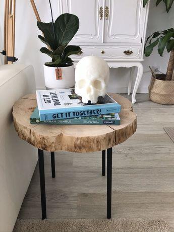 Mesa de apoio madeira rústica - sidetable