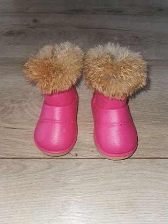 Nowe buty dziecięce skórzane z futerkiem na zimę rozm. 23