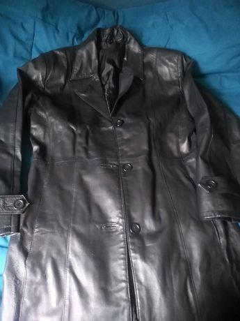 Długi płaszcz Skóra naturalna Jak nowy RozXL GOTHIC