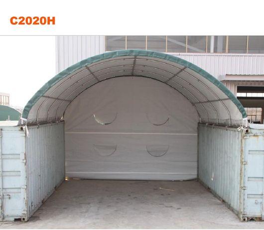 Dach kontener morski namiot zadaszenie budowlany kontenery 6x6 wiata