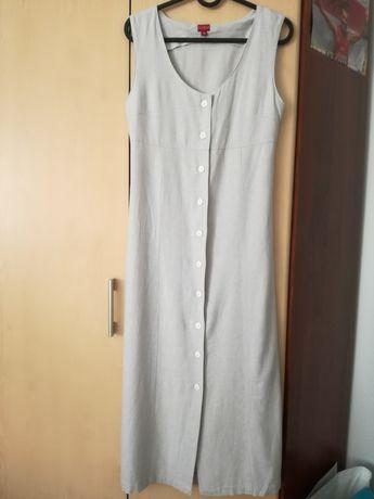 Sukienka płótno roz S. w.164cm BDB