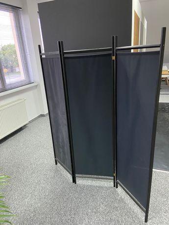 parawan czarny w dobrym stanie 160 x 155 cm