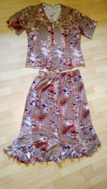 Komplet damski spódnica i bluzka zestaw