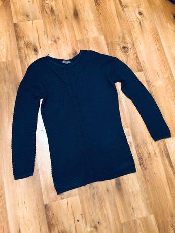 Greenpoint granatowy siateczkowy sweter 40 L