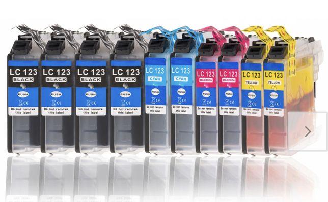 Tusz do drukarki brother DCP-J132W DCP-J152W LC123. 10szt
